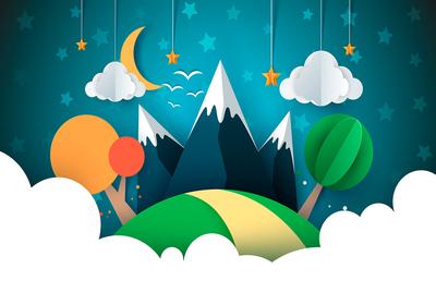 Kinderkamer behang Kleine Reiziger