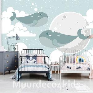 Walvissen fotobehang kinderkamer