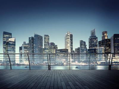 Skyline 3D fotobehang XL