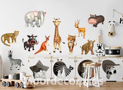 Jungle muurstickers Dieren Safari