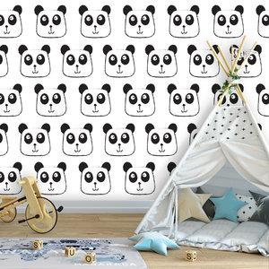 Getekende Panda's fotobehang