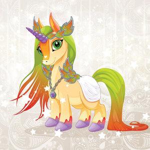 Unicorn Pony behang Jewel