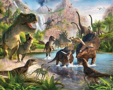 Dinosaurus behang - WT