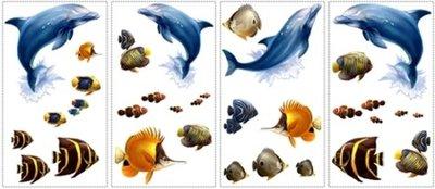 Dolfijnen en vissen muurstickers