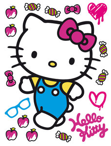 Hello Kitty muursticker XL