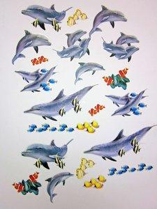Dolfijnen muurstickers 6 vellen