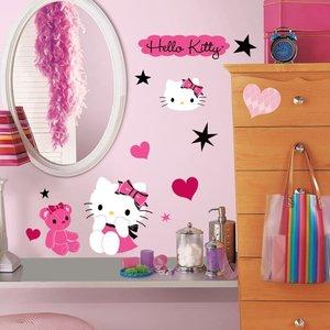 Hello Kitty muurstickers Hartjes