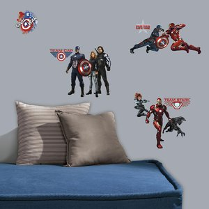 Captain America muurstickers Civil War