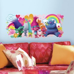 Trolls movie muursticker XL