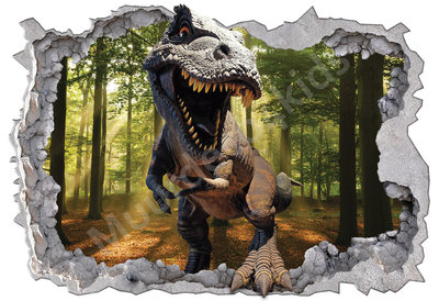 Dinosaurus fotobehang T-Rex bos 3D-effect