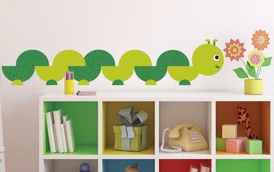 Boekenwurm muursticker