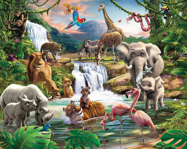Jungle behang Walltastic