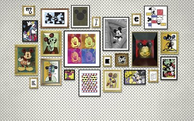 Mickey Mouse Art Collection fotobehang