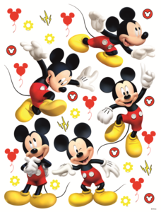 Mickey Mouse Muursticker.Mickey Mouse Muurstickers Xl Muurdeco4kids