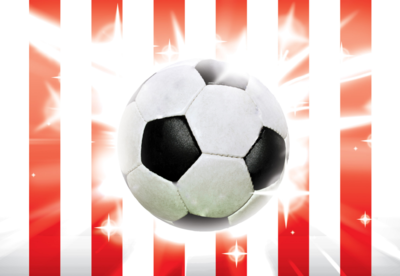 Voetbal fotobehang Rood Wit