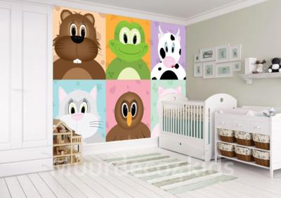 Behang Kinderkamer Ruimtevaart : Vrolijk dieren behang voor de leukste kinderkamer