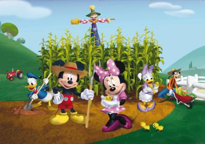Mickey Mouse fotobehang Boerderij XL