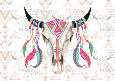Fotobehang Cow skull