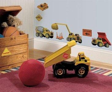Construction muurstickers Bouw