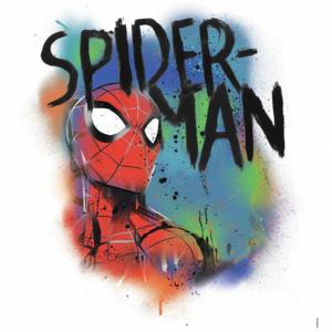 Spiderman muursticker Classic Graffiti Burst