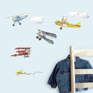 Vliegtuig muurstickers Vintage Planes RMK1197SCS