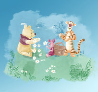 Winnie the Pooh behang Picnic