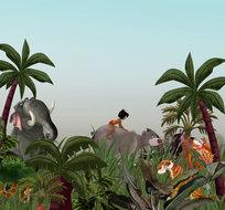 Jungle Book behang Friends