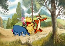 Winnie the Pooh XL behang Vriendjes