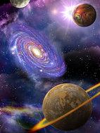 Planeten en sterren fotobehang L1