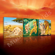 Lion King canvas 3-delige set