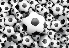 Voetbal behang Voetballen