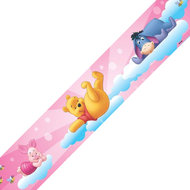 Winnie the Pooh behangrand Roze