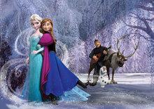 Frozen vlies fotobehang Elsa en Anna XL