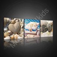 Strand canvasdoek set 3-delig