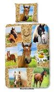 Paarden dekbedovertrek multi