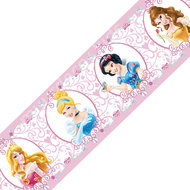 Disney Princess behangrand roze