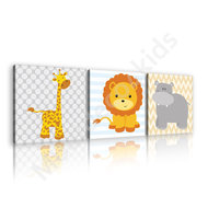 Jungle canvas set Babykamer