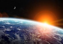 Aarde Zon Maan fotobehang