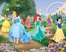Disney Princess behang Walltastic