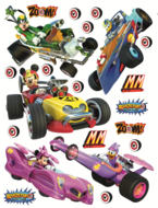 Mickey Mouse muurstickers XL Roadsters