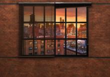 Industrieel behang Brooklyn Brick