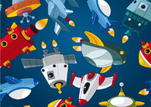 Ruimtevaart behang Space ships