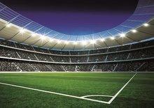 Voetbal behang Stadion 2 - Vlies XL
