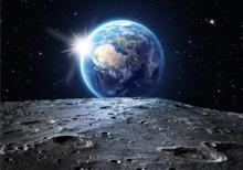 Maan en Aarde fotobehang