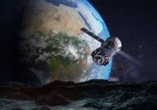 Aarde fotobehang Satelliet