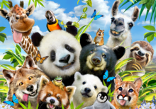 Selfie behang Jungle dieren