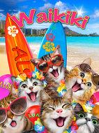 Katten behang Selfie Waikiki