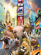 Selfie behang Jungledieren in New York