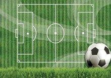 Voetbal behang gras