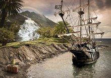 Piraten fotobehang Piratenschip